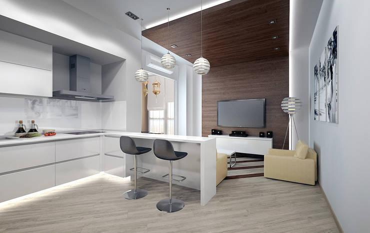Гостиная: Гостиная в . Автор – Дизайн-студия 'Эскиз'