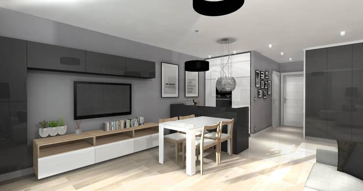 Grafitowy.! -Kuchnia: styl , w kategorii Kuchnia zaprojektowany przez ArtDecoprojekt ,Nowoczesny
