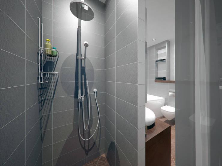 Ванная комната: Ванные комнаты в . Автор – Дизайн-студия 'Эскиз'