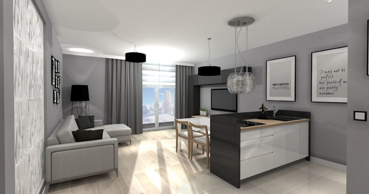 Ruang Keluarga Modern Oleh ArtDecoprojekt Modern