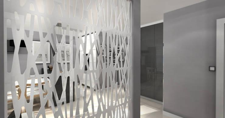 Grafitowy.! -widok z holu: styl , w kategorii Kuchnia zaprojektowany przez ArtDecoprojekt ,Nowoczesny