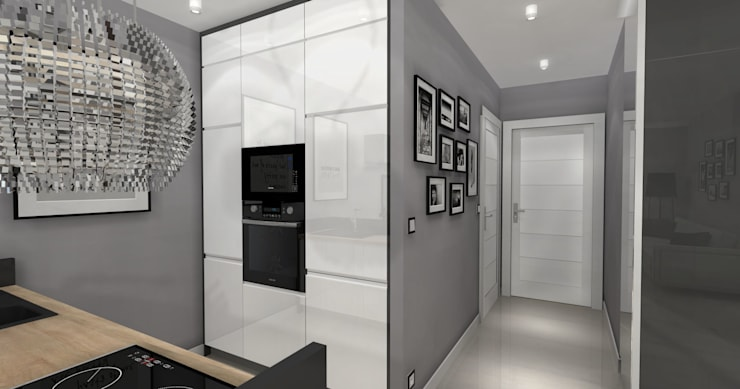 Grafitowy.! -Kuchnia: styl , w kategorii  zaprojektowany przez ArtDecoprojekt ,Nowoczesny