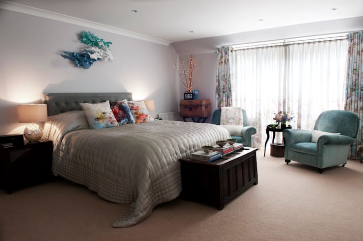 Family Home in Tunbridge Wells:  Bedroom by Smartstyle Interiors