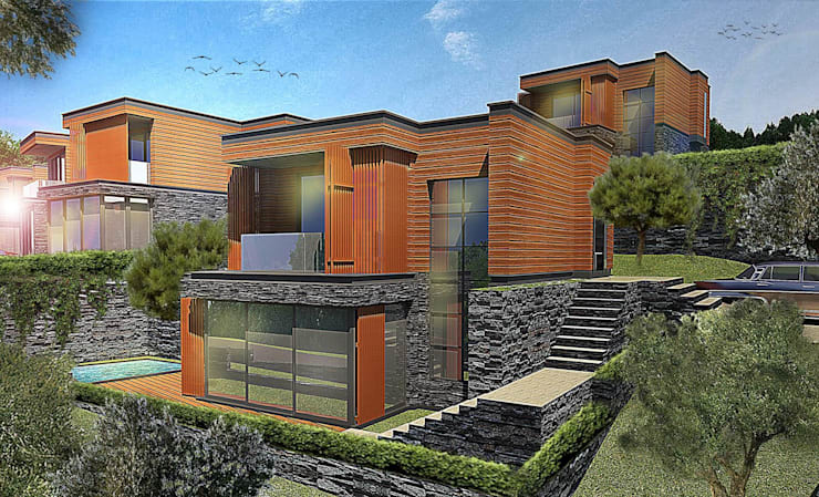 Ulus Architects – Olive Garden Fazlıca: akdeniz tarzı tarz Evler