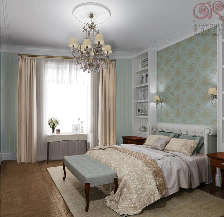 Дизайн 4-комнатной квартиры в ЖК «Дом на Давыдковской»: Спальни в . Автор – Дизайн студия Ольги Кондратовой