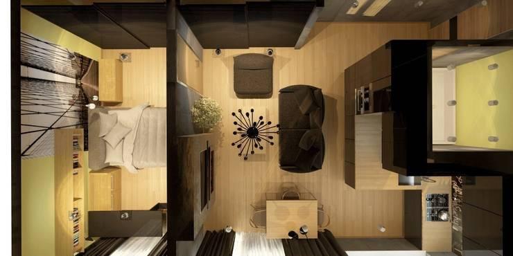 Квартира для мамы с ребенком: Гостиная в . Автор – Smirnova Luba