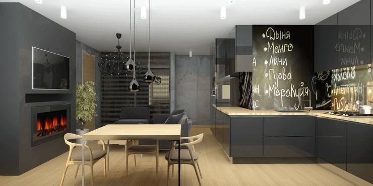 Квартира для мамы с ребенком: Кухни в . Автор – Smirnova Luba