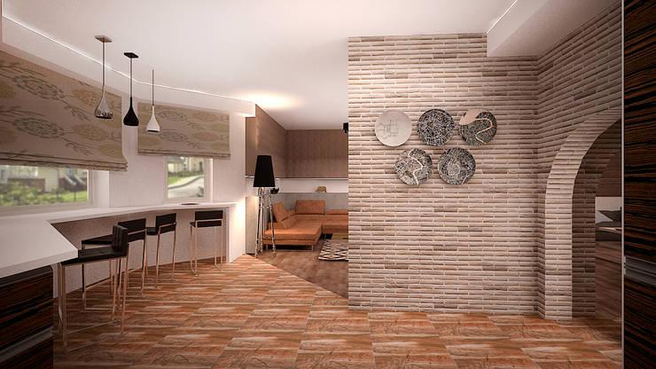 Коттедж в п. Грибки: Столовые комнаты в . Автор – дизайн-бюро ARTTUNDRA