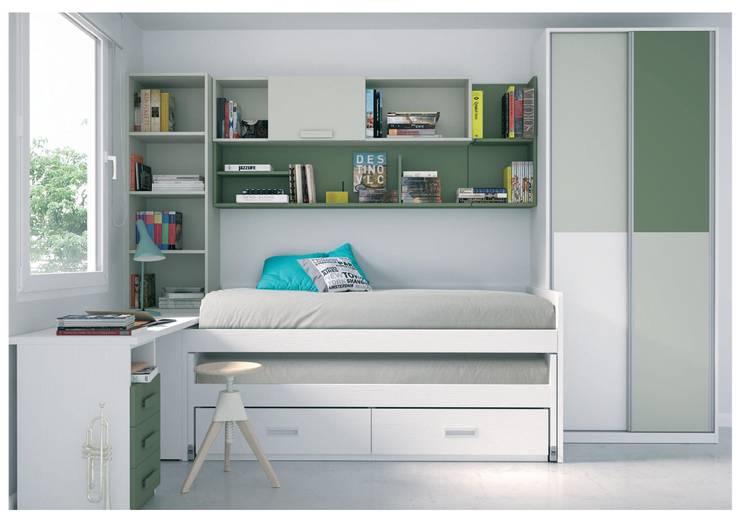 Dormitorio Juvenil AROA 4: Habitaciones infantiles de estilo  de Muebles Arepesa