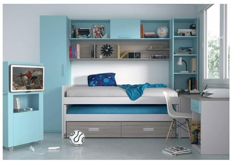 Dormitorios Juveniles: Habitaciones infantiles de estilo  de Muebles Arepesa