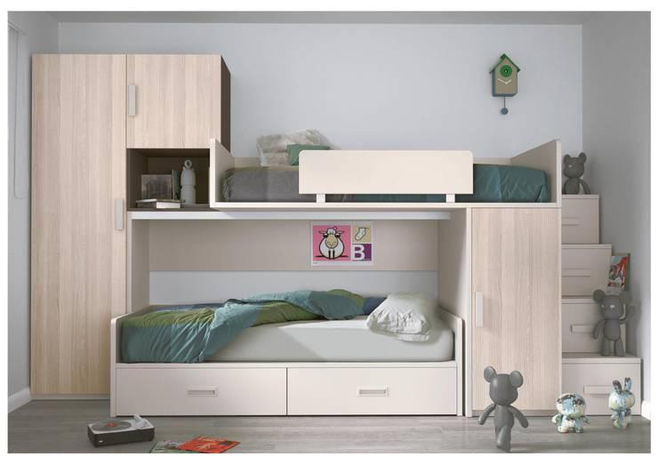 Dormitorios infantiles  de estilo  por Muebles Arepesa