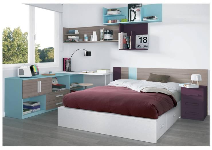 Dormitorios Juveniles: Dormitorios de estilo moderno de Muebles Arepesa
