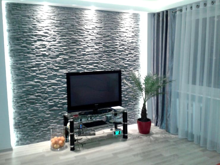 Mieszkanie na wynajem: styl , w kategorii Salon zaprojektowany przez studio bonito,