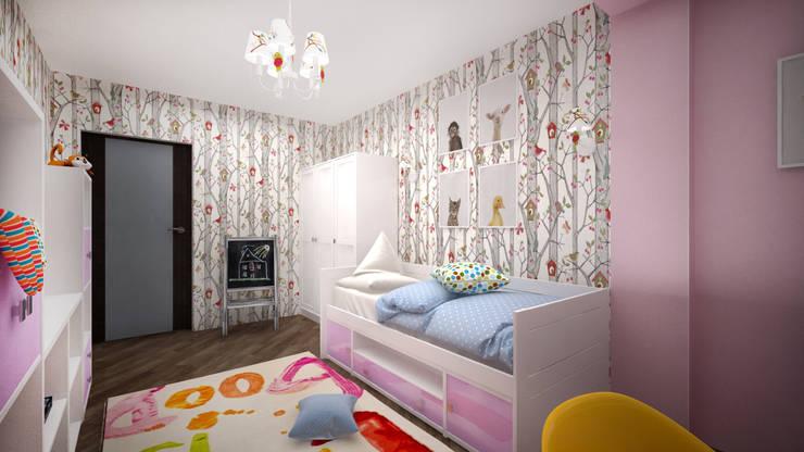 Из двухкомнатной в трехкомнатную. Проект квартиры в Балашихе.: Детские комнаты в . Автор – дизайн-бюро ARTTUNDRA