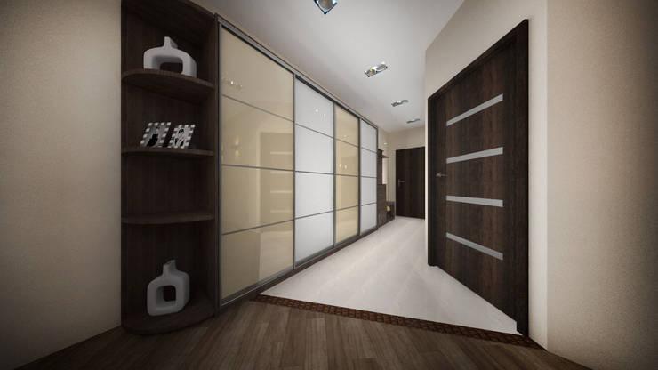 Из двухкомнатной в трехкомнатную. Проект квартиры в Балашихе.: Коридор и прихожая в . Автор – дизайн-бюро ARTTUNDRA