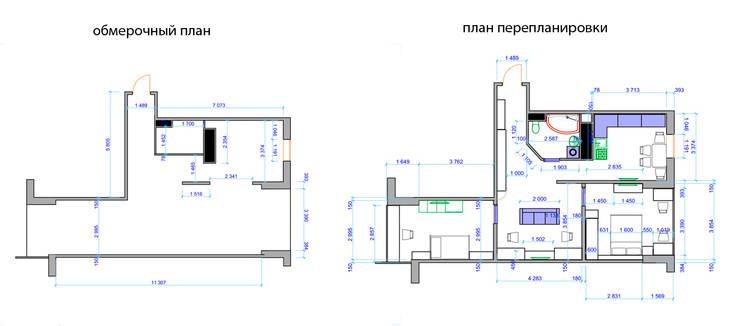 Из двухкомнатной в трехкомнатную. Проект квартиры в Балашихе.:  в . Автор – дизайн-бюро ARTTUNDRA