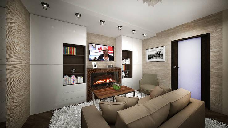 Из двухкомнатной в трехкомнатную. Проект квартиры в Балашихе.: Гостиная в . Автор – дизайн-бюро ARTTUNDRA