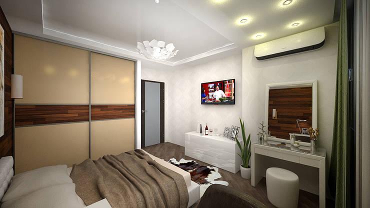 Из двухкомнатной в трехкомнатную. Проект квартиры в Балашихе.: Спальни в . Автор – дизайн-бюро ARTTUNDRA