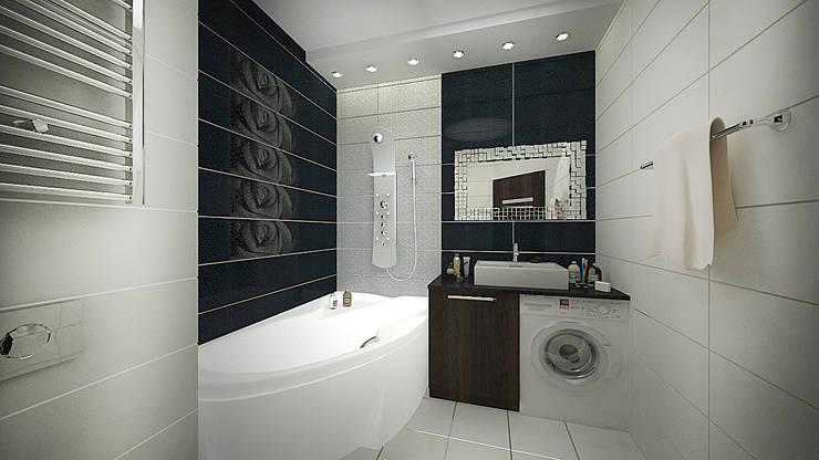Из двухкомнатной в трехкомнатную. Проект квартиры в Балашихе.: Ванные комнаты в . Автор – дизайн-бюро ARTTUNDRA