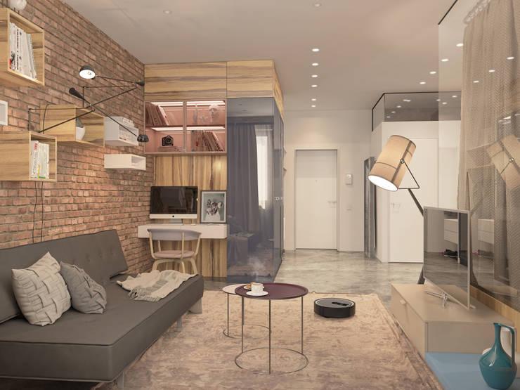 Гостиная в . Автор – Kristina Petraitis Design House