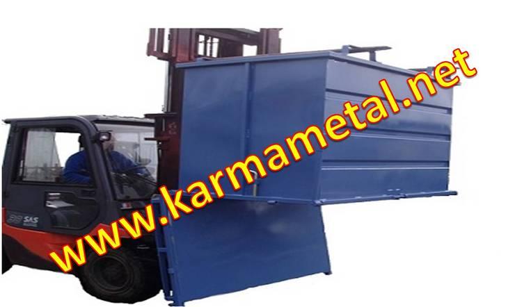 KARMA METAL – KARMA METAL-Açılır tabanlı konteyner Tabanı açılır konteyner kasa:  tarz Garaj / Hangar, Endüstriyel