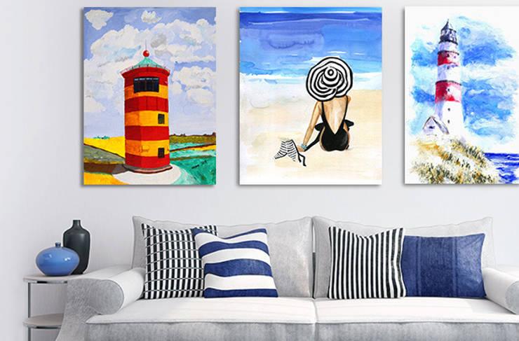 Maritime Wandgestaltung: klassische Wohnzimmer von Posterlounge