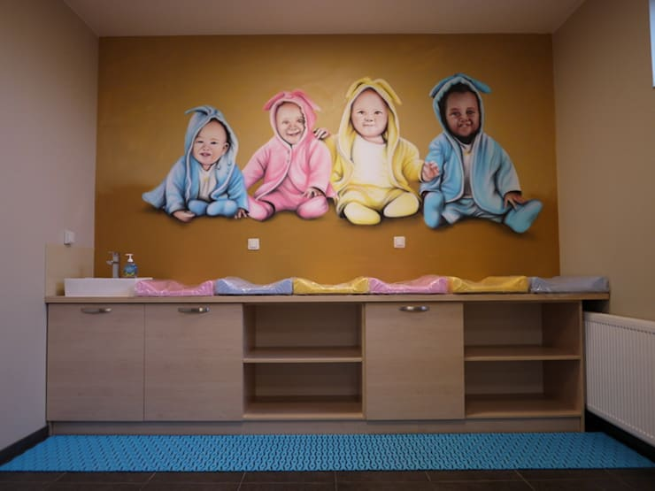 Basen dla dzieci: styl , w kategorii Szkoły zaprojektowany przez studio bonito,Nowoczesny