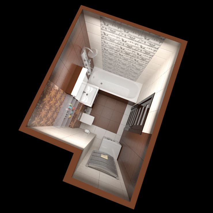 Интерьер квартиры ЖК «Алексеевская роща»: Ванные комнаты в . Автор – дизайн-бюро ARTTUNDRA