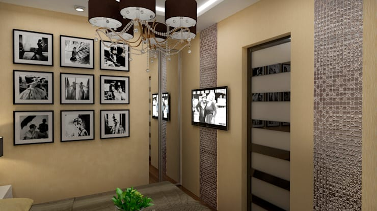 Интерьер квартиры ЖК «Алексеевская роща»: Спальни в . Автор – дизайн-бюро ARTTUNDRA,
