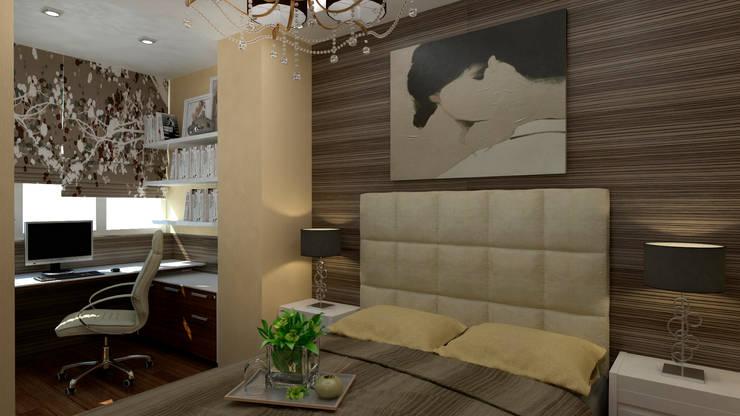 Интерьер квартиры ЖК «Алексеевская роща»: Спальни в . Автор – дизайн-бюро ARTTUNDRA