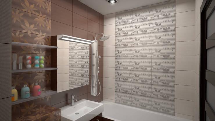 Интерьер квартиры ЖК «Алексеевская роща»: Ванные комнаты в . Автор – дизайн-бюро ARTTUNDRA,