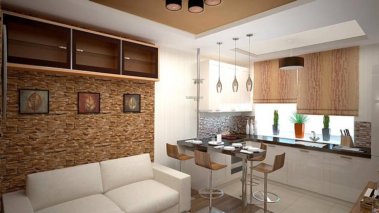 Интерьер квартиры ЖК «Алексеевская роща»: Кухни в . Автор – дизайн-бюро ARTTUNDRA