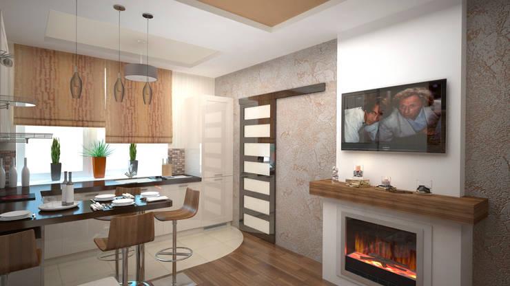 Интерьер квартиры ЖК «Алексеевская роща»: Кухни в . Автор – дизайн-бюро ARTTUNDRA,