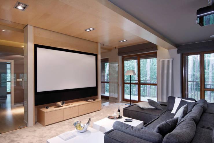 Dom w Magdalence: styl , w kategorii Pokój multimedialny zaprojektowany przez 3deko,