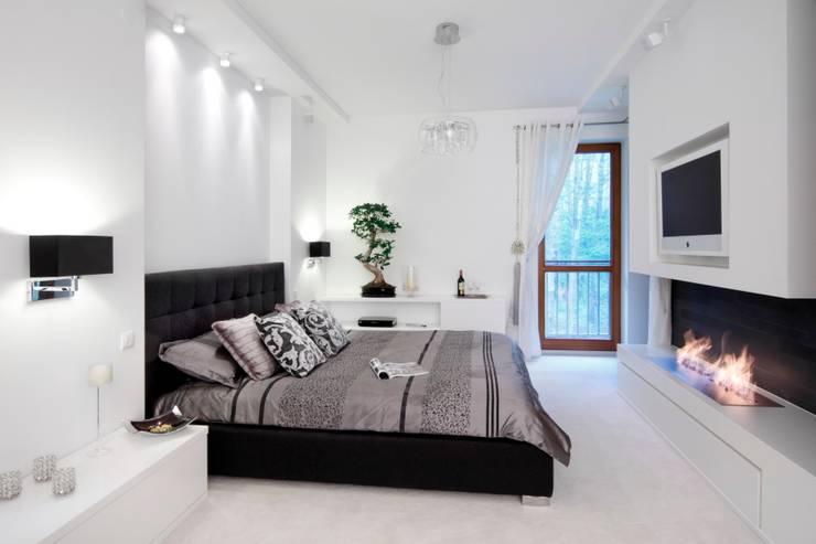 Dom w Magdalence: styl , w kategorii Sypialnia zaprojektowany przez 3deko,