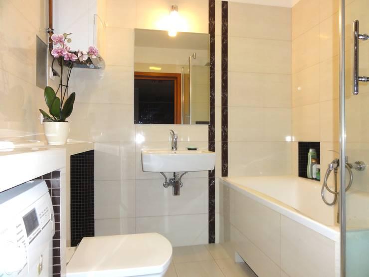 Mieszkanie trochę nowocześnie trochę klasycznie: styl , w kategorii Łazienka zaprojektowany przez studio bonito,Klasyczny