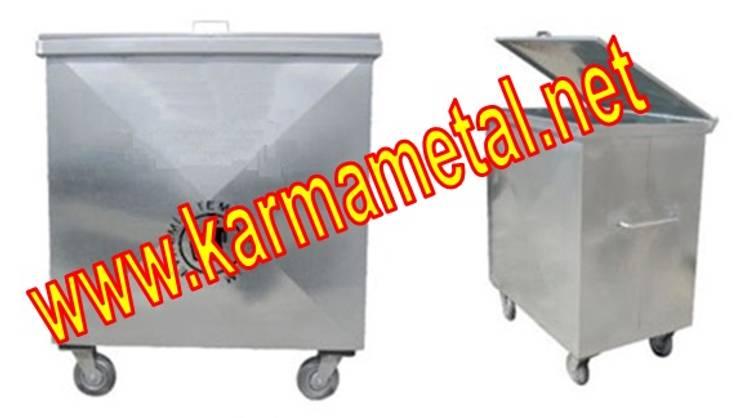 KARMA METAL – Karma Metal - Galvaniz Çöp Konteyneri Sıcak Daldırma Galvanizli Fiyatı Fiyatları: endüstriyel tarz tarz Garaj / Hangar