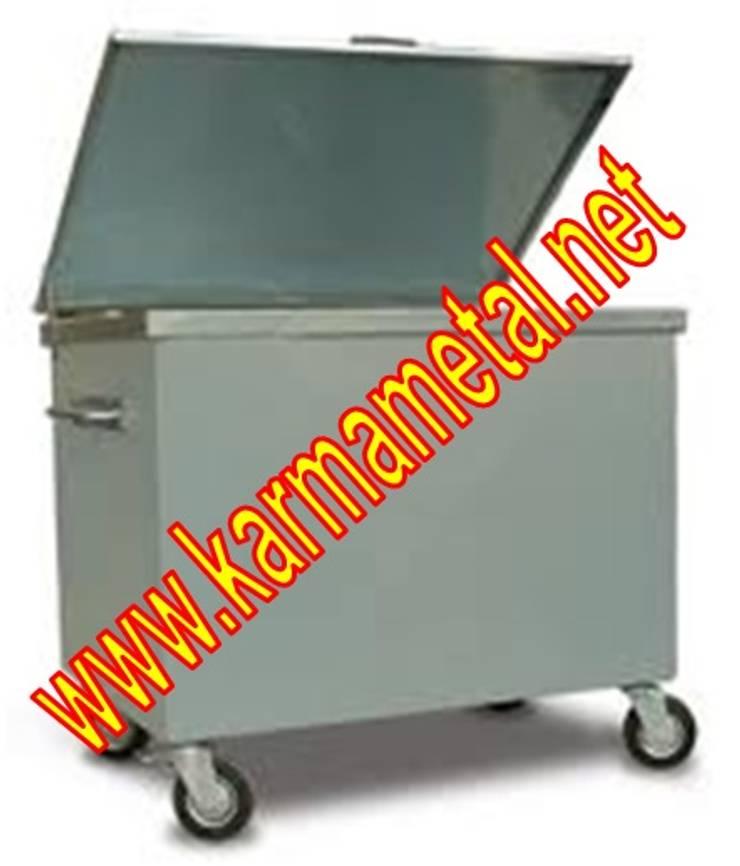 KARMA METAL – Karma Metal - Galvaniz Çöp Konteyneri Sıcak Daldırma Galvanizli Fiyatı Fiyatları: endüstriyel tarz tarz Evler
