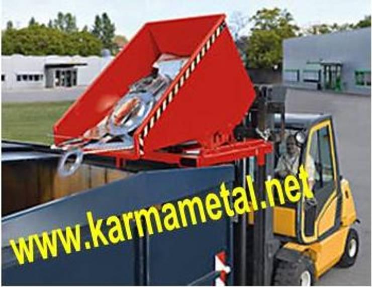 KARMA METAL – KARMA METAL -Forklift Devirme Tertibatlı Konteyner : endüstriyel tarz tarz Mutfak