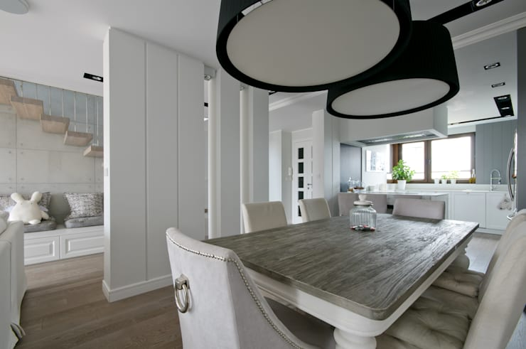 Modern dining room by 3deko Modern