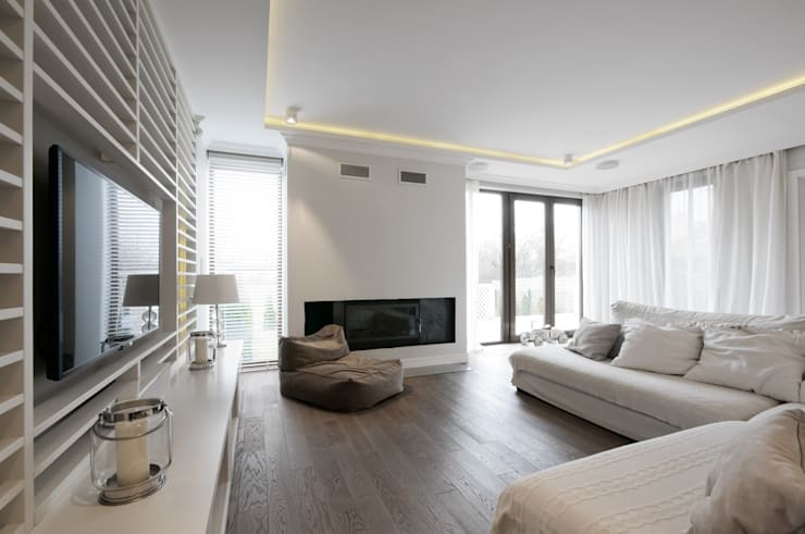 现代客厅設計點子、靈感 & 圖片 根據 3deko 現代風