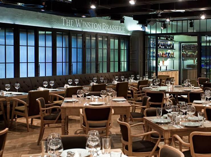 Murat Oral İç mimarlık ve Tasarım Tic. Ltd. Şti – The Winston Brasserie:  tarz Yeme & İçme