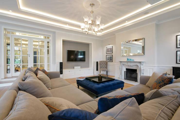 Dom w Wilanowie : styl , w kategorii Salon zaprojektowany przez 3deko