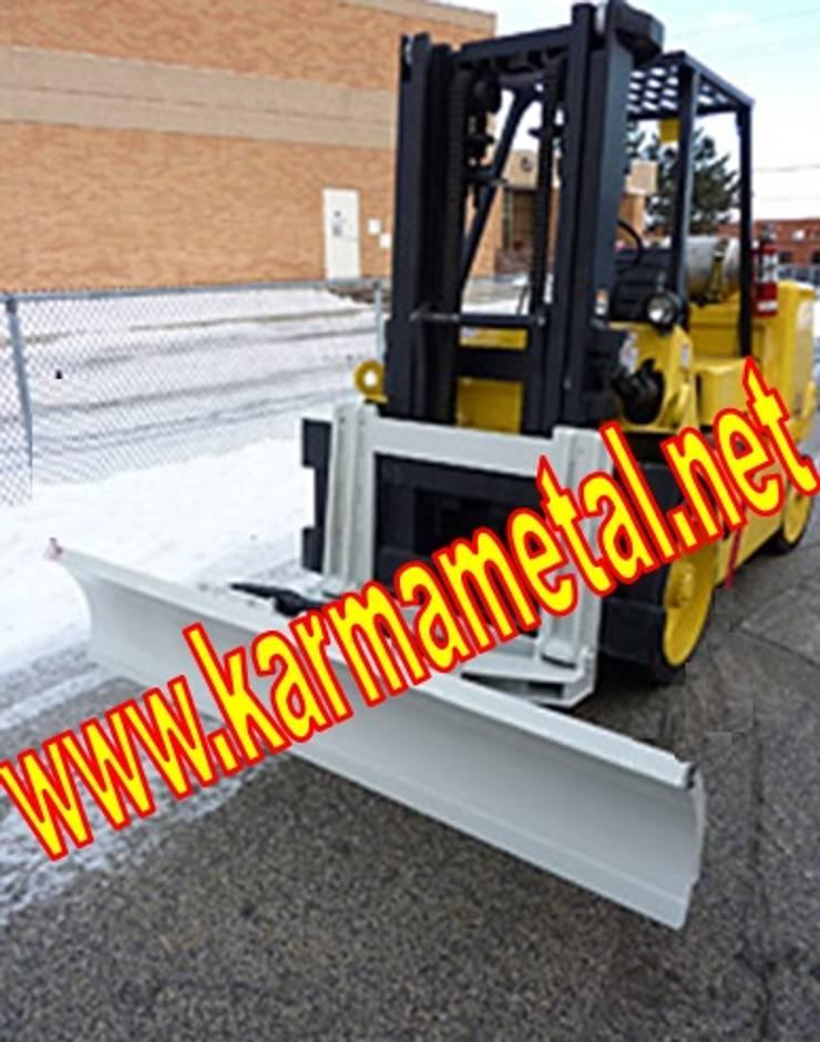 KARMA METAL – KARMA METAL-Forklift Kar Kum Mıcır Küreme Ataşmanı Kepçesi:  tarz Fitness Odası, Endüstriyel
