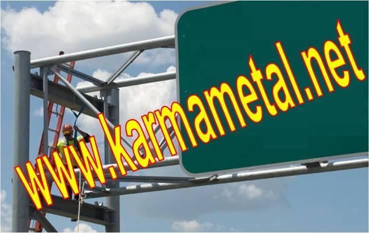 KARMA METAL – KARMA METAL-Reklam Tabela Totem Direği Borusu İmalatı :  tarz Garaj / Hangar, Endüstriyel
