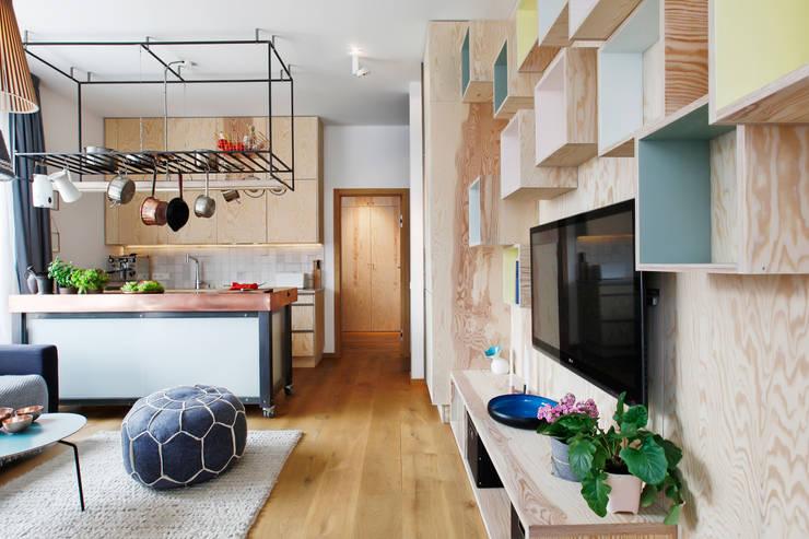 Salon i kuchnia : styl , w kategorii Kuchnia zaprojektowany przez ARTEMIA DESIGN ,Nowoczesny
