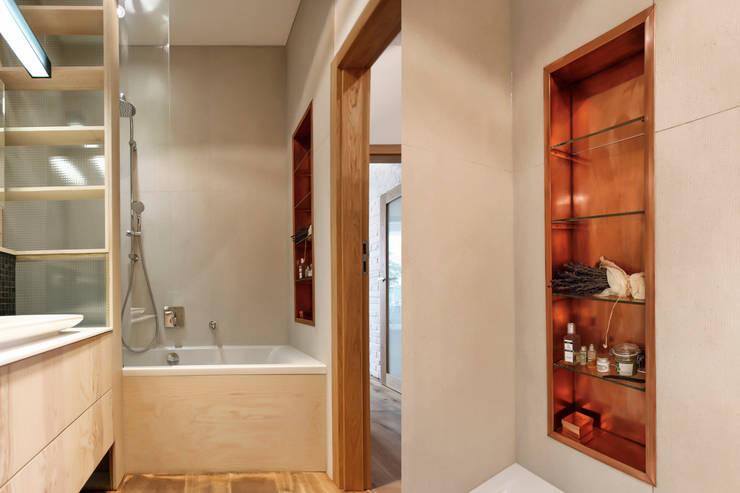 Łazienka : styl , w kategorii Łazienka zaprojektowany przez ARTEMIA DESIGN ,Nowoczesny
