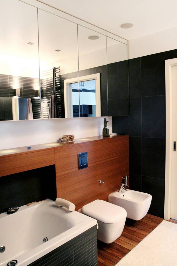 Wnętrza : styl , w kategorii Łazienka zaprojektowany przez Architekt wnętrz Aleksandra Stefaniak