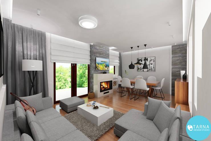 Sonatina: styl , w kategorii Salon zaprojektowany przez Tarna Design Studio,Nowoczesny