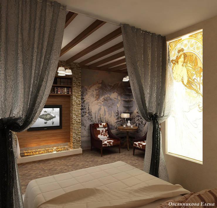 Комната в стиле шале: Спальни в . Автор – Елена Овсянникова